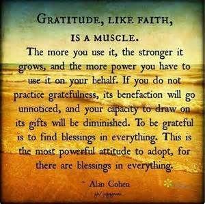 Being grateful: