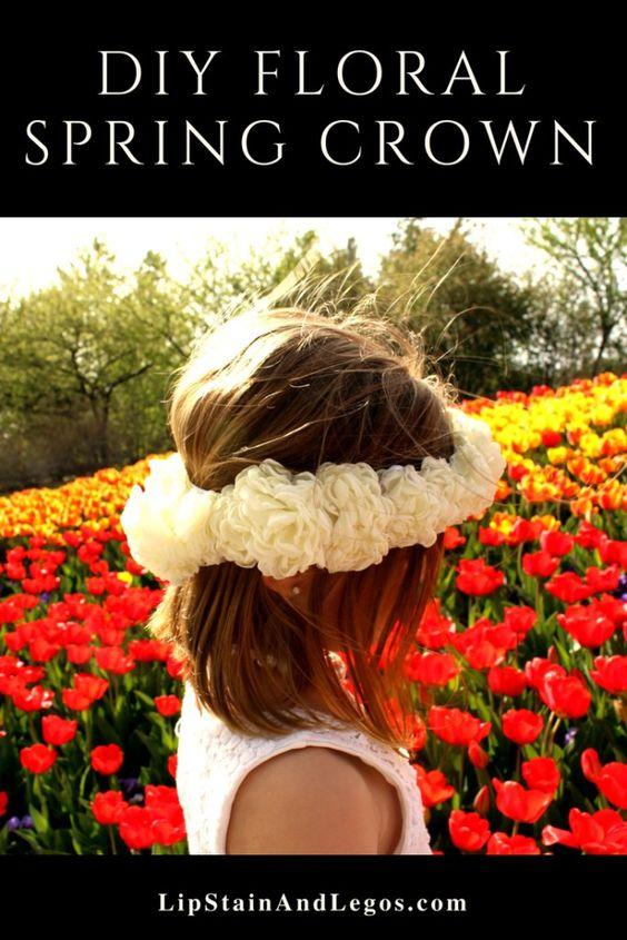 DIY Floral Spring Crown tutorial:
