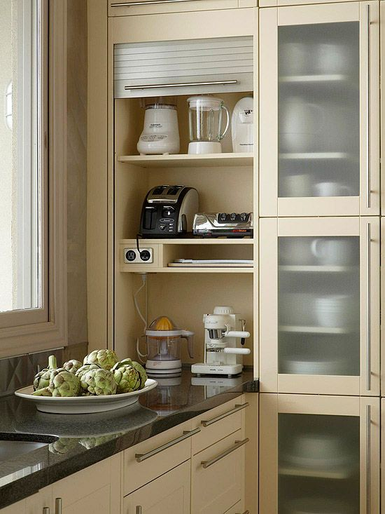 small appliance storage - when we remodel: