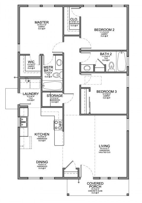 small house plan 1150 love the simple layout happy about on small laundry room floor plans id=77851