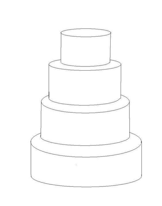 4 Tier Cake Template Cakes Pinterest Tier Cake Cake