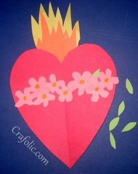 Create the Sacred and Immaculate Hearts from Paper | Catholic Inspired ~ Arts, Crafts, and Activities!