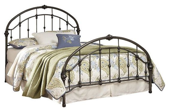 Bronze Finish Nashburg King Metal Headboard/Footboard With