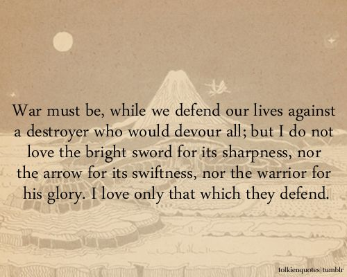 Tolkien on war. / For unique, hands-on activity ideas for ...