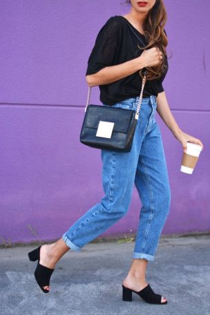 This mules shoes outfit is so cute for fall!