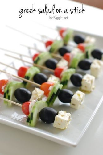 Greek Salad on a Stick 25+ Game Day Foods | NoBiggie.net: