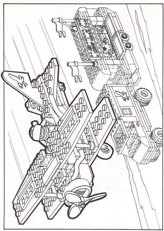 coloring page lego  lego  birthday  pinterest