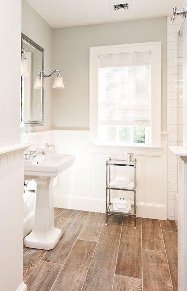 Floors, Colonial and Bathroom on Pinterest on Farmhouse Bathroom Floor Tile  id=75261