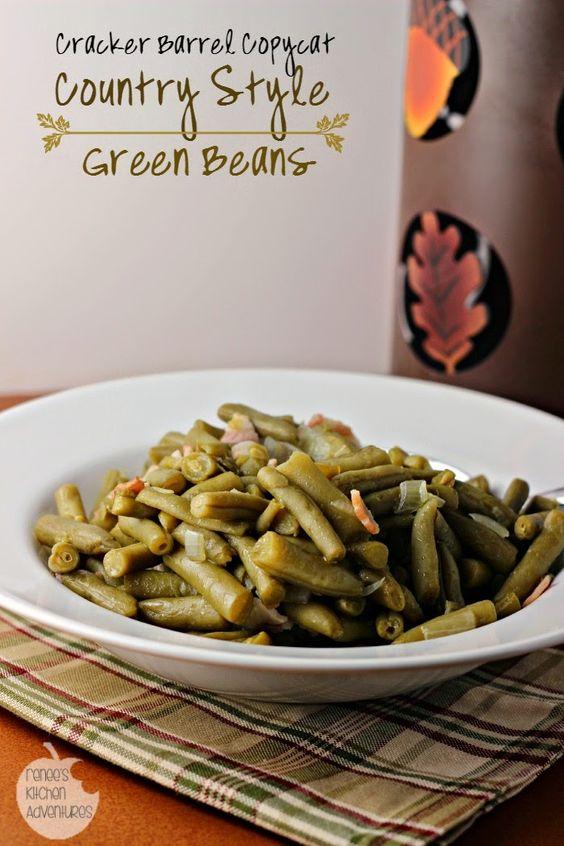 Cracker Barrel Copycat Country Style Green Beans