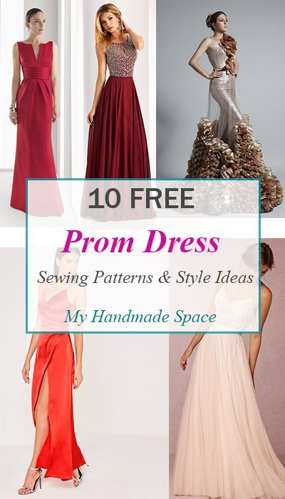 10 FREE Prom Dress Sewing Patterns - My Handmade Space