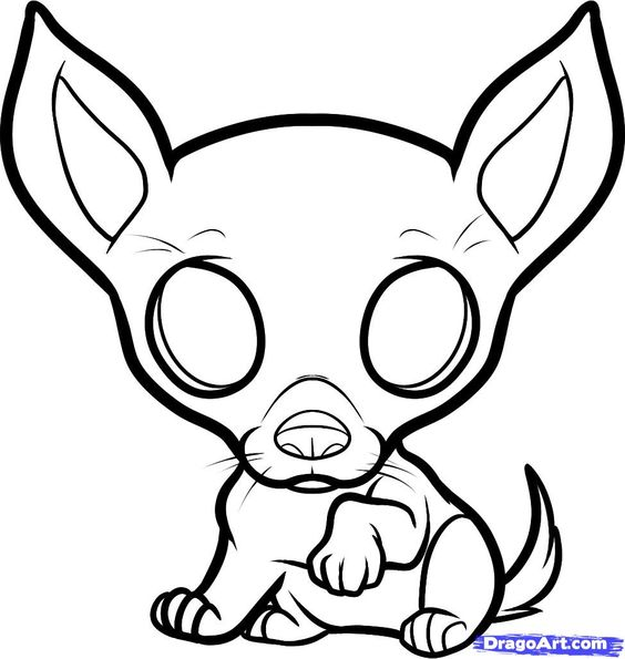 dog color pages printable  chihuahua coloring pages