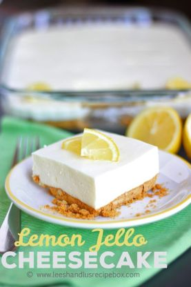 No Bake Lemon Cheesecake: