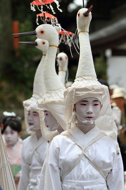 """''Heron is on a head""""  Yasaka Shrine, Gion, Kyoto. Gion ..."""
