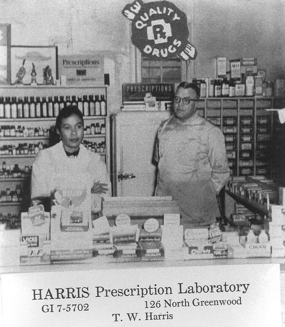 harris prescription laboratory greenwood tulsa black on black wall street id=70616