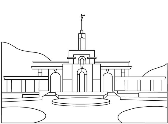 lds temple coloring page  lds temple coloring page