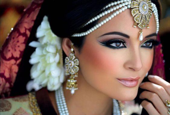 South asian bridal makeup. Smokey eye. Photo by:Alexandre Pichon MU by:Ambreen: