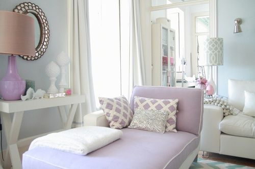 Living Room Home Decor. Lavender / Pale Purple Furnishings