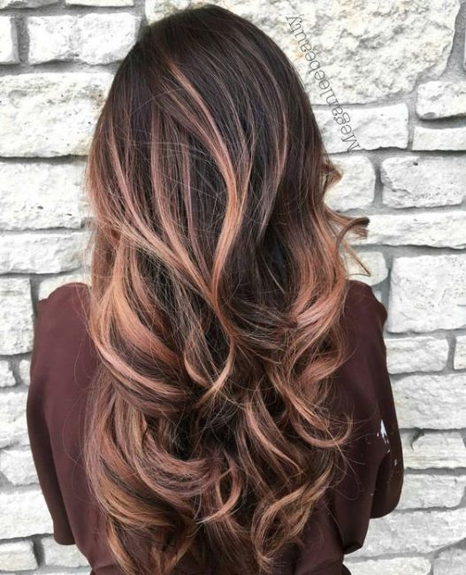 Baylage is so cute for rose gold hairstyles!