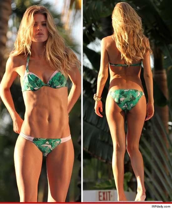 Supermodel Doutzen Kroes -- Goes Green ... Bikini.....ABS ...