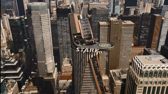 Stark Tower showed in The Avengers