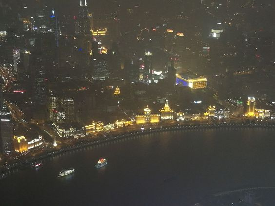 The charming night view of the Bund