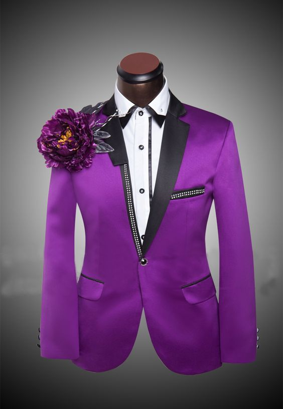 Purple Suits For Prom Dress Yy