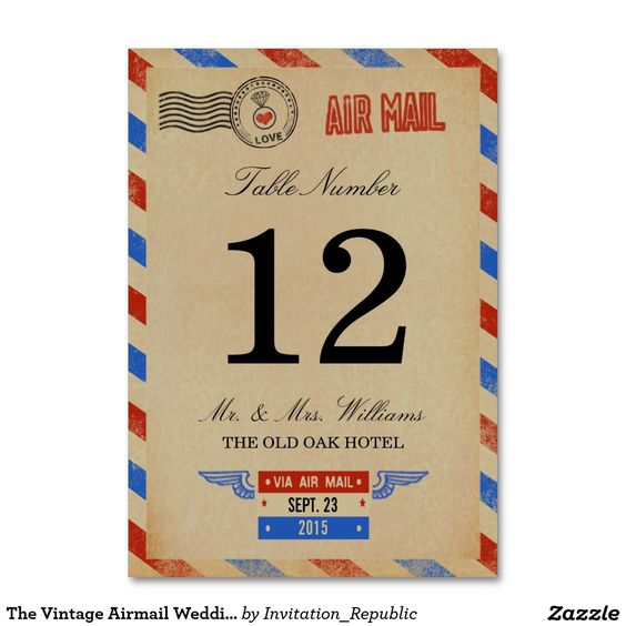 The Vintage Airmail Wedding Collection: