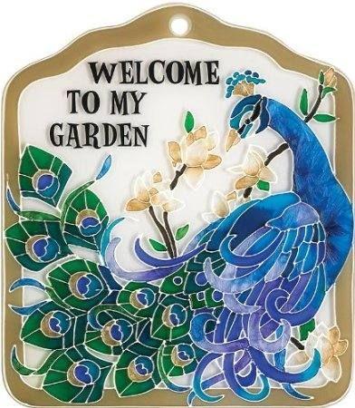Peacock Garden Tile Or Plaque 2000