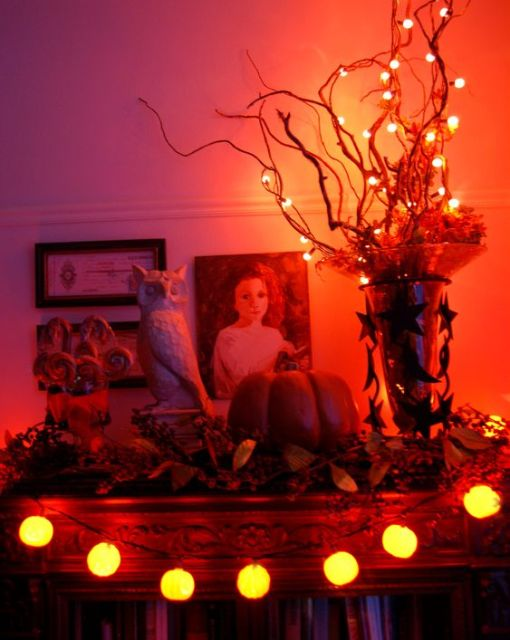 Oh the lights at Halloween: