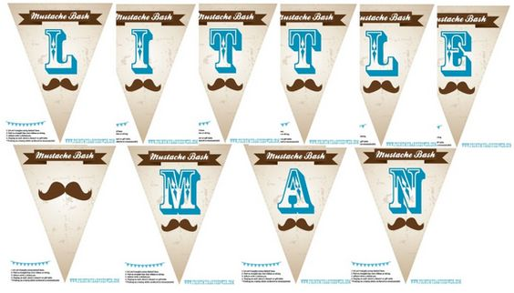 Perfect Mustache Baby Shower Banner