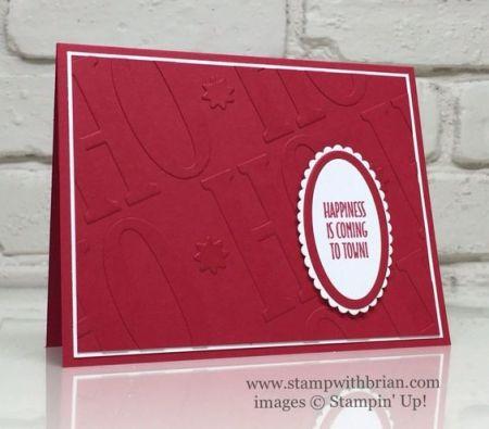 Hang Your Stocking, Large Letters Framelits, Layering Ovals Framelits, Stampin' Up!, Brian King