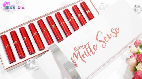 Sekotak penuh Fanbo Matte Lipstick