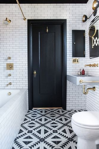 bathroom tile trends - Vintage Industrial Style
