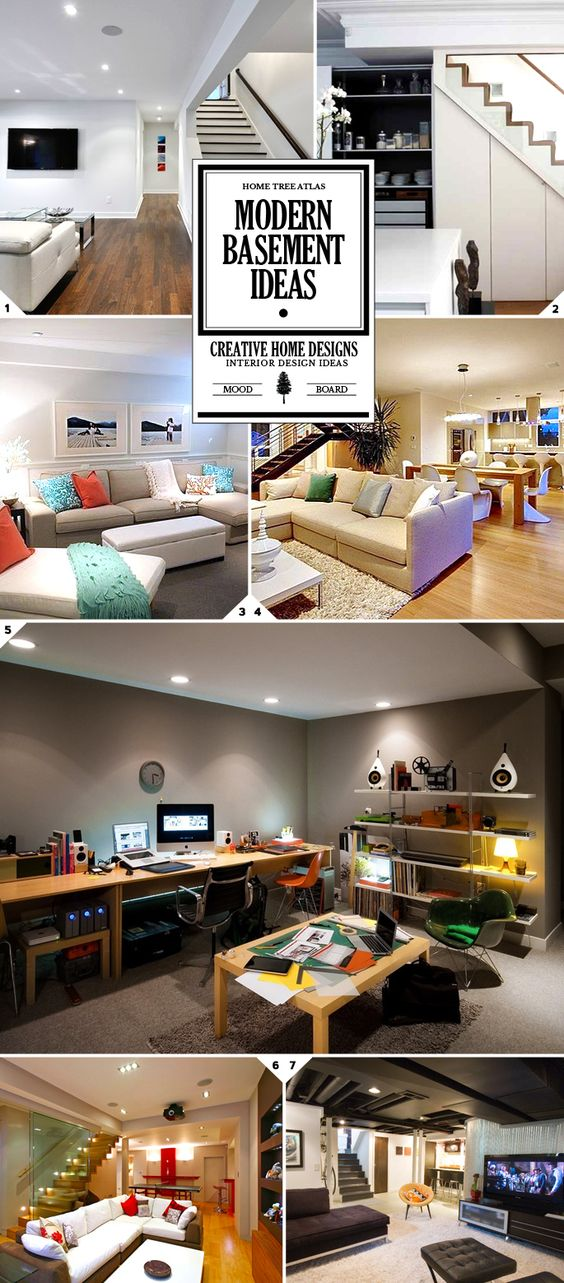 man cave modern basement and neutral colors on pinterest on basement color palette ideas id=38386