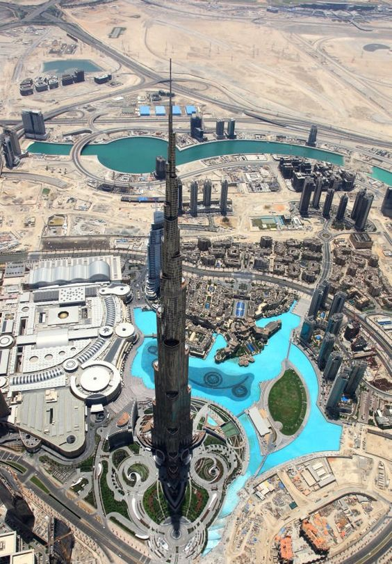 looking down at Burj Khalifa