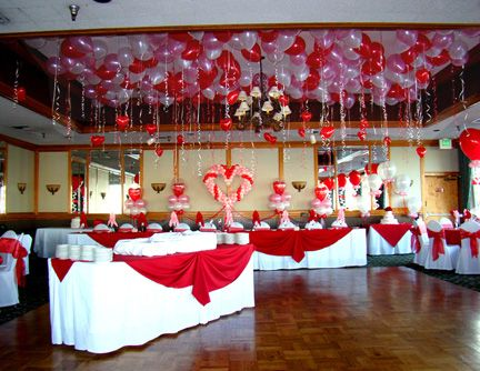 Valentine Dance Decoration Wedding Full Of Hearts