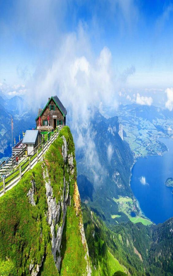 View from Schafberg mountain, Austria: