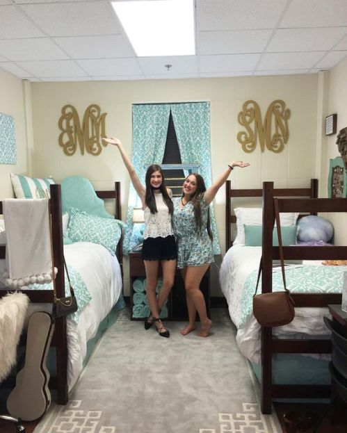 Monograms are perfect for coordinating dorm room ideas!