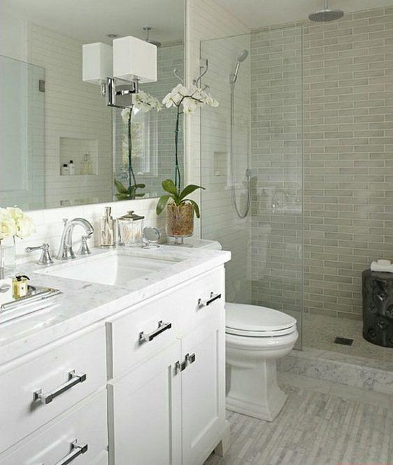 small bathroom design ideas white vanity walk in shower on bathroom renovation ideas white id=41266