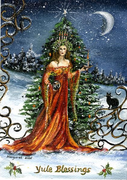 Yule Watercolour And Pagan On Pinterest