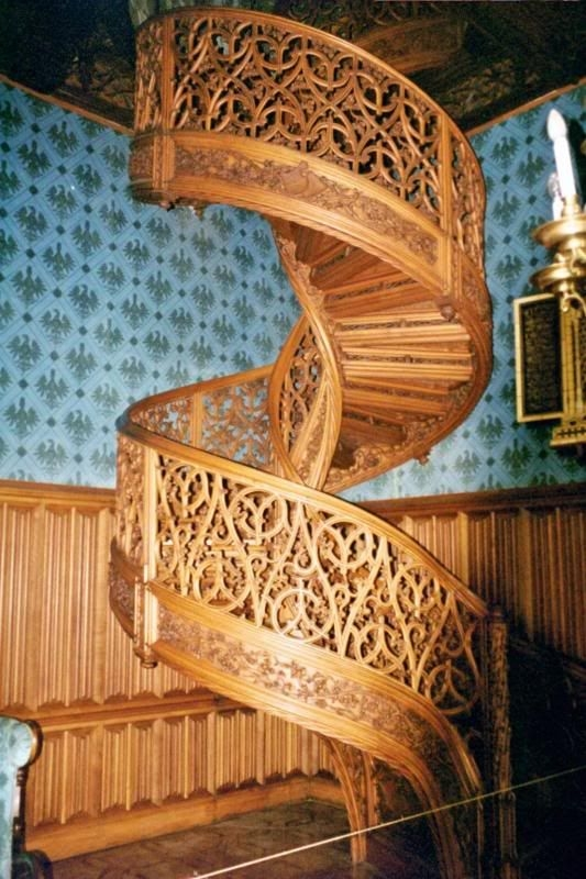 Spiral Staircase Carved From One Single Tree Trunk Lednice Castle Czech Republic Carve It | Spiral Staircase Tree Trunk