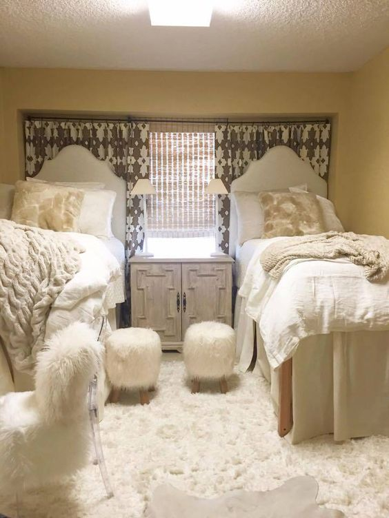Cream And Fur Is Perfect For Coordinating Dorm Room Ideas! Part 79