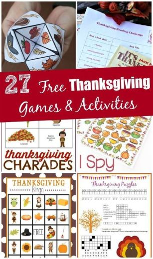 I LOVE these Free Thanksgiving games and activities! Perfect for easy fun with the kids or something to do around the table.:
