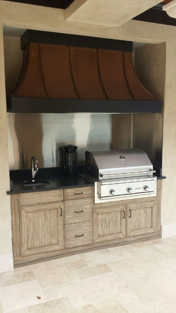 small and beautiful naturekast outdoor kitchen with delta heat grill and custom vent a hood on outdoor kitchen ventilation id=50495