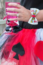 Queen of Hearts Costume- Playing Card bow bracelet: