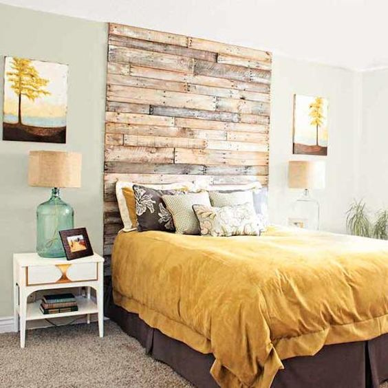 wall decoration ideas and unusual bed headboard designs: