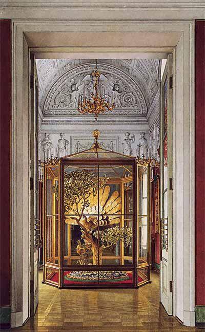 К.А.Ухтомский. «Павлин» в Восточной галерее Эрмитажа. Акварель. 1860-е годы. ГЭ: