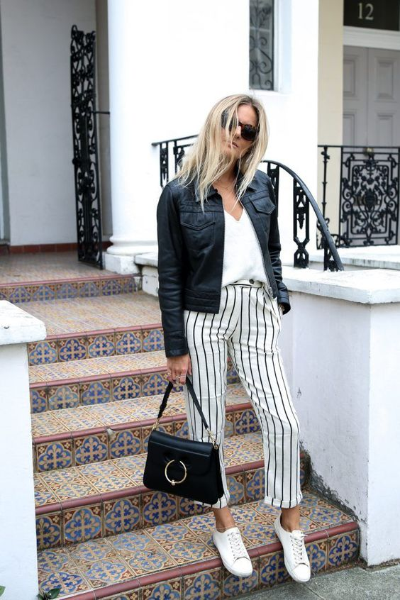 5 Ways To Style Striped Pants More: