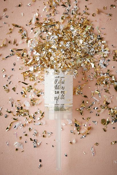 Gold Glitter & Glam Popper | BHLDN: