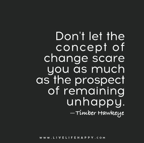 Don't Let the Concept of Change: